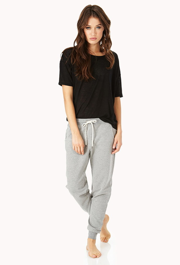 Forever 21 Cozy Heathered PJ Sweatpants