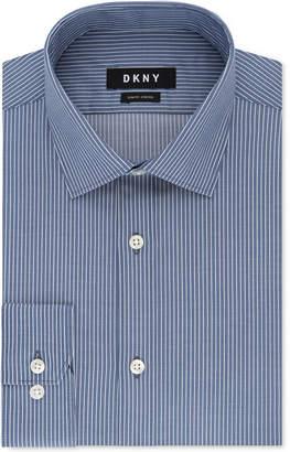 DKNY Men's Slim-Fit Stretch Stripe Dress Shirt