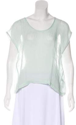 Eileen Fisher Linen Sheer Top w/ Tags