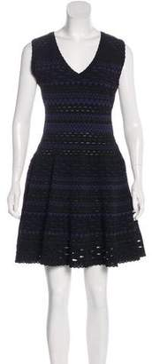 Alaia Jacquard Fit and Flare Dress
