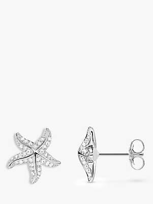 Thomas Sabo Cubic Zirconia Starfish Stud Earrings, Silver
