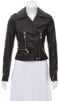 Versus Leather Notch-Lapel Jacket