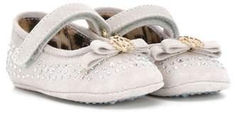 Roberto Cavalli strass embellished pre-walker shoes