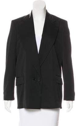 Bottega Veneta Wool & Leather-Trimmed Blazer