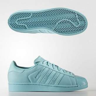 adidas Womens Superstar Glossy Toe Leather Trainers Adult 06 1/2