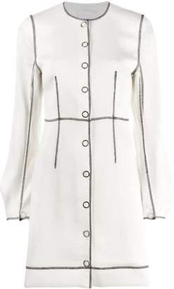 Ganni contrast stitch mini dress
