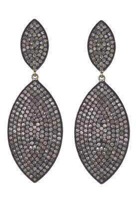 Lera Jewels large 2 tier diamond groovy earrings (Default Title)