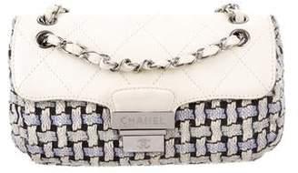 Chanel Woven Pushlock Flap Bag