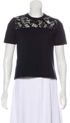 Miu Miu Short Sleeve Knit Top