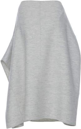 Jil Sander Layla Folded Wool Midi Skirt
