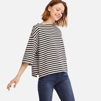 Uniqlo WOMEN Striped Wide 3/4 Sleeve T-Shirt