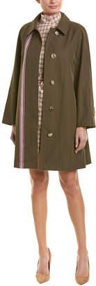 Burberry Striped Ribbon Cotton Gabardine Car Coat