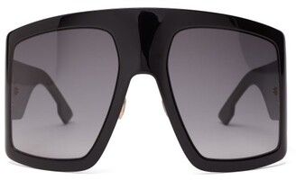 Christian Dior Diorsolight1 Oversized Acetate Sunglasses - Womens - Black