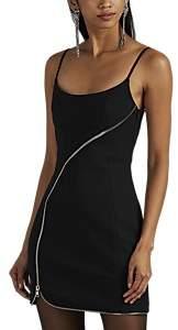 Women's Zip-Detailed Twill Minidress - Black