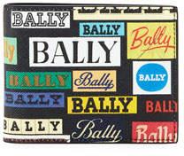 Bally men's Bevye Logo-Print Faux-Leather Bi-Fold Wallet