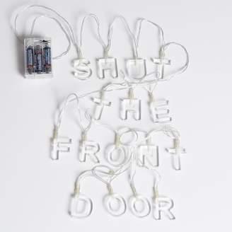 Pottery Barn Teen Shut the Front Door Acrylic String Lights