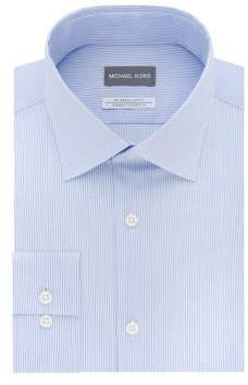 Michael Kors Regular Fit Airsoft Stretch Stripe Dress Shirt