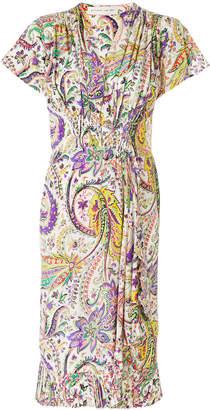 Etro floral print gathered dress