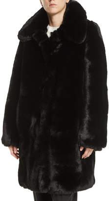 Marc Jacobs Chubby Plush Coat with Collar