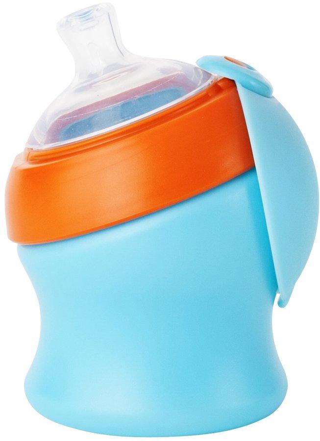 Boon SWIG Spout Top Sippy - Blue/Orange - 7 oz