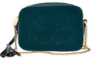 C. WonderC. Wonder Pebble Leather and Suede Crossbody Handbag