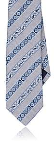 Paolo Albizzati PAOLO ALBIZZATI MEN'S PATTERNED-STRIPE SILK TWILL NECKTIE