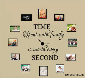 """H&M Wall Decal """"Time Spent with Family"""" Quote Removable Wall Decal"""