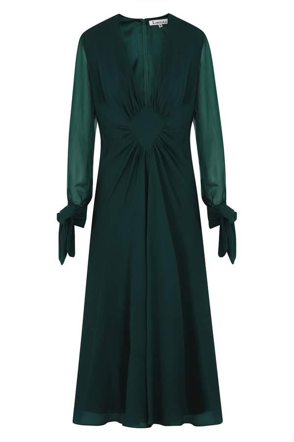 Jessie Dress Bottle Green