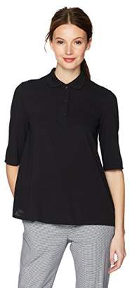 Lacoste Women's Short Sleeve Pique Polo with Pleat On The Back