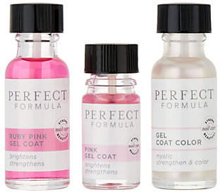Perfect Formula Pink Gel Coat & Gel Coat Color3-Piece Kit