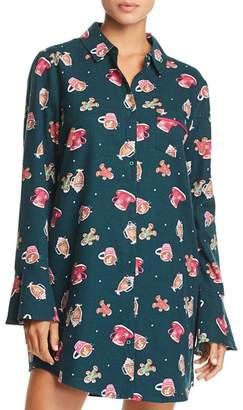 Jane & Bleecker New York Printed Flannel Sleepshirt