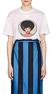 Prada Women's Graphic Cotton T-Shirt - White