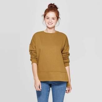 Universal Thread Women's Long Sleeve Crewneck Fleece Tunic Pullover Sweatshirt