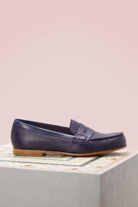 J.M. Weston Scorzino and Box Calf Loafers
