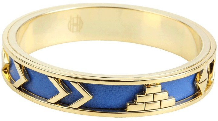 House of Harlow 1960 - Aztec Bangle with Lapis Leather