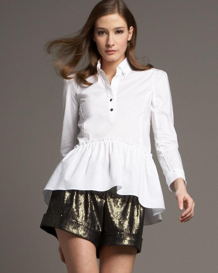 Diane von Furstenberg Sequined Dax Shorts