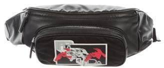 Prada x James Jean 2018 Glace Calf Etiquette Shoulder Bag w/ Tags Black x James Jean 2018 Glace Calf Etiquette Shoulder Bag w/ Tags