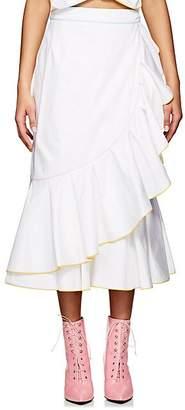 Marianna Senchina Women's Ruffle Cotton Wrap Skirt - White