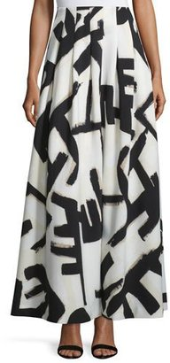 NIC+ZOE Graphic-Print Pleated Maxi Skirt $368 thestylecure.com