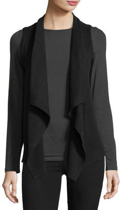 Neiman Marcus Exposed-Seam Cashmere Vest