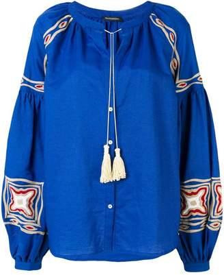 Wandering tassel detail blouse