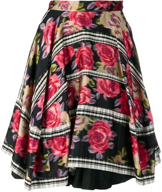 Comme des Garcons Pre-Owned 1989's layered floral skirt
