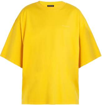Balenciaga Self help-print cotton T-shirt