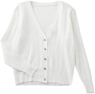 Goodnight Macaroon 'Sara' Lightweight Button Ribbed Knit Cardigan