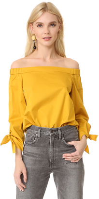 Tibi Off Shoulder Tunic $295 thestylecure.com