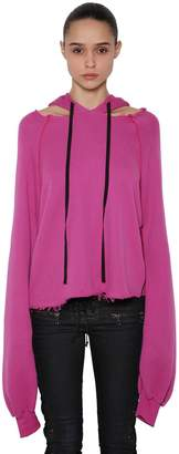 Unravel Cotton & Cashmere Sweatshirt Hoodie