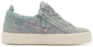 Giuseppe Zanotti Grey Glitter May London Sneakers