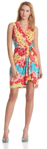 Max & Cleo Women's Floral Wrap Dress
