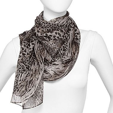 JCPenney Mixed Animal Print Scarf