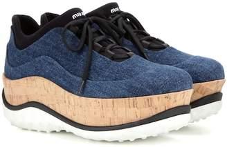 Miu Miu Denim platform sneakers